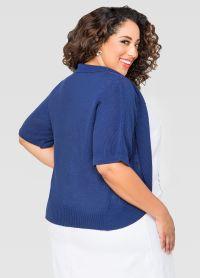 Shawl Collar Shrug-Plus Size Cardigan-Ashley Stewart-042 ...