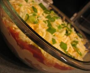 Light Layered Mexican Dip