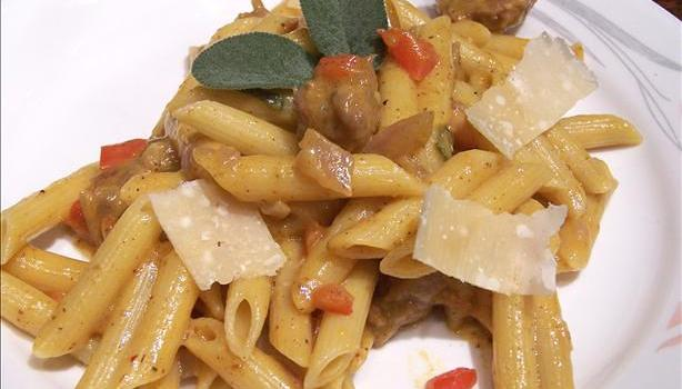 Italian Sausage and Winter Squash Pasta