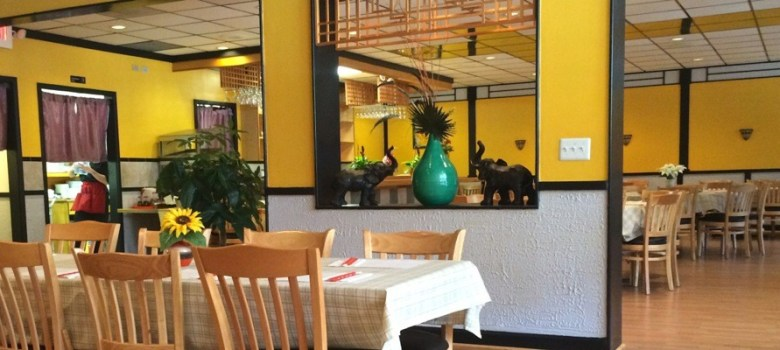 banana leaf restaurant interior