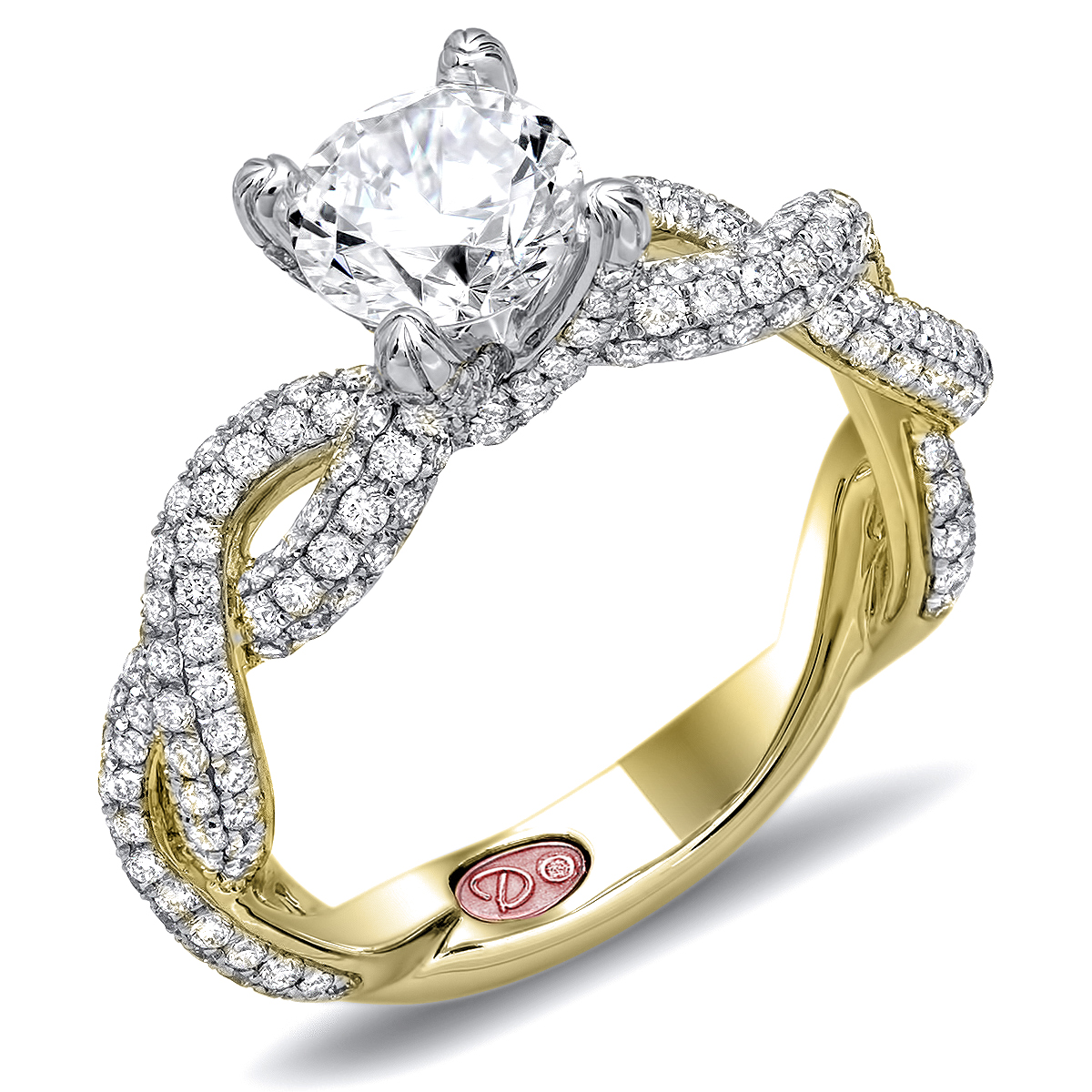 twisted yellow gold wedding rings Yellow Gold Engagement Ring
