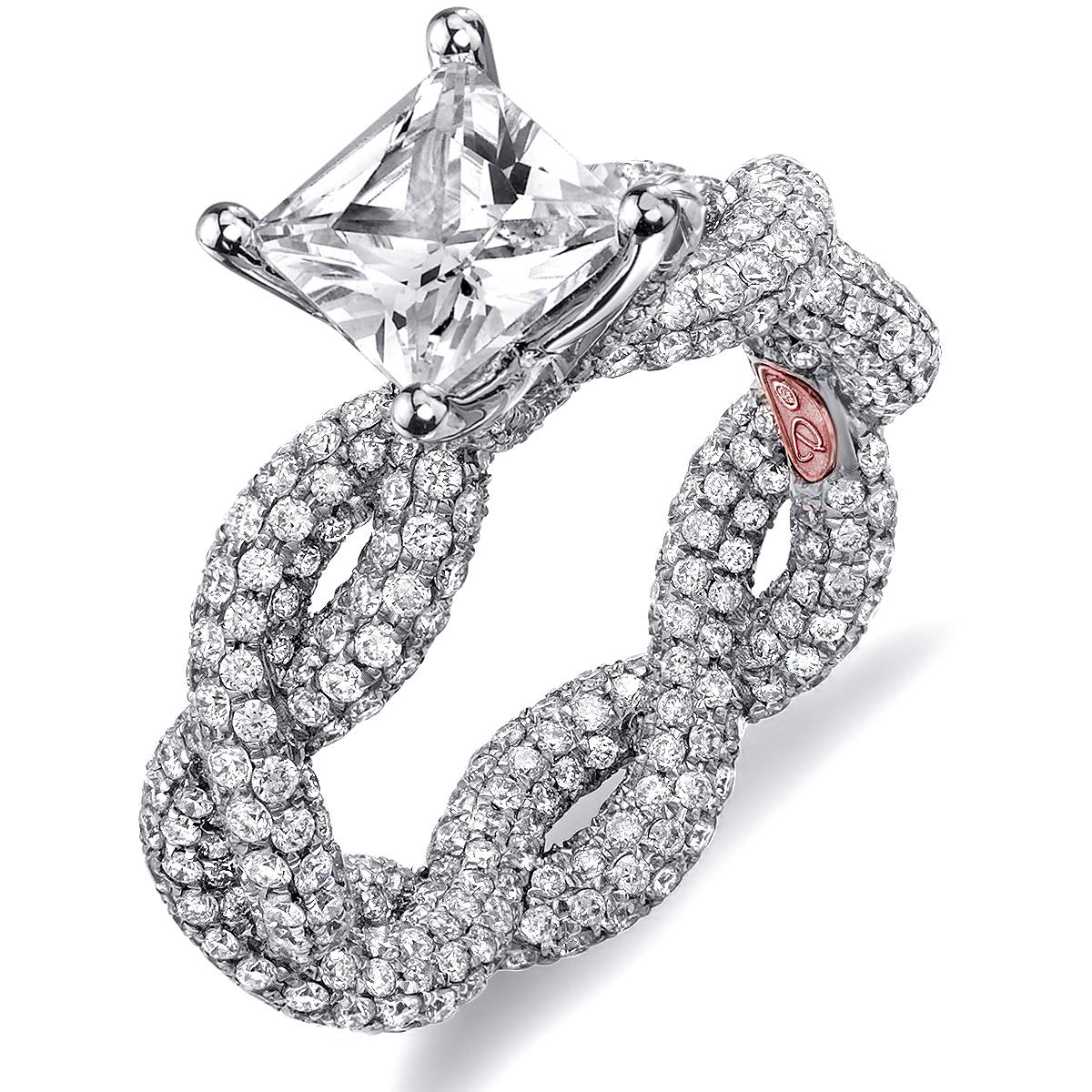 twisted princess cut engagement rings princess cut wedding rings Twisted Princess Cut Engagement Rings