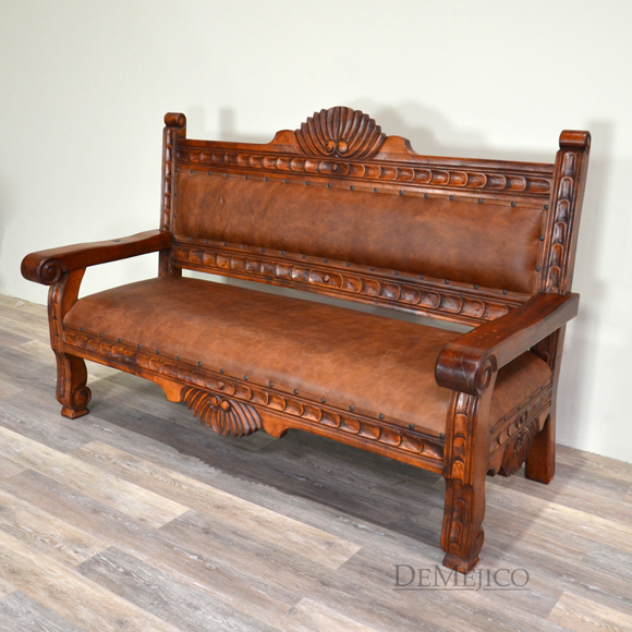 Spanish Benches, Custom Made Sofas, Rustic Wood Benches -Demejico - bench for living room