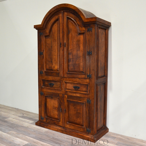 Hacienda Old World Armoire w/ Arched Top