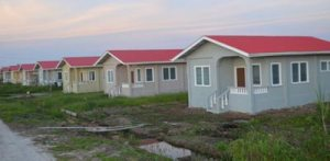 A section of turnkey homes on the East Bank of Demerara