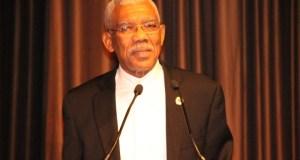 President David Granger addressing the Guyana State Dinner held at the Sheraton Hotel in Manhattan, New York.