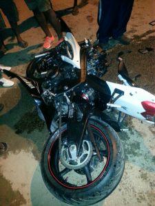 The bike that Michael Fox was riding.