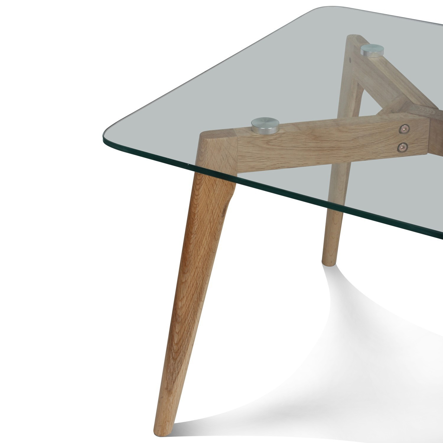Table En Verre Scandinave Table Basse Verre Et Bois Scandinave 110x60cm