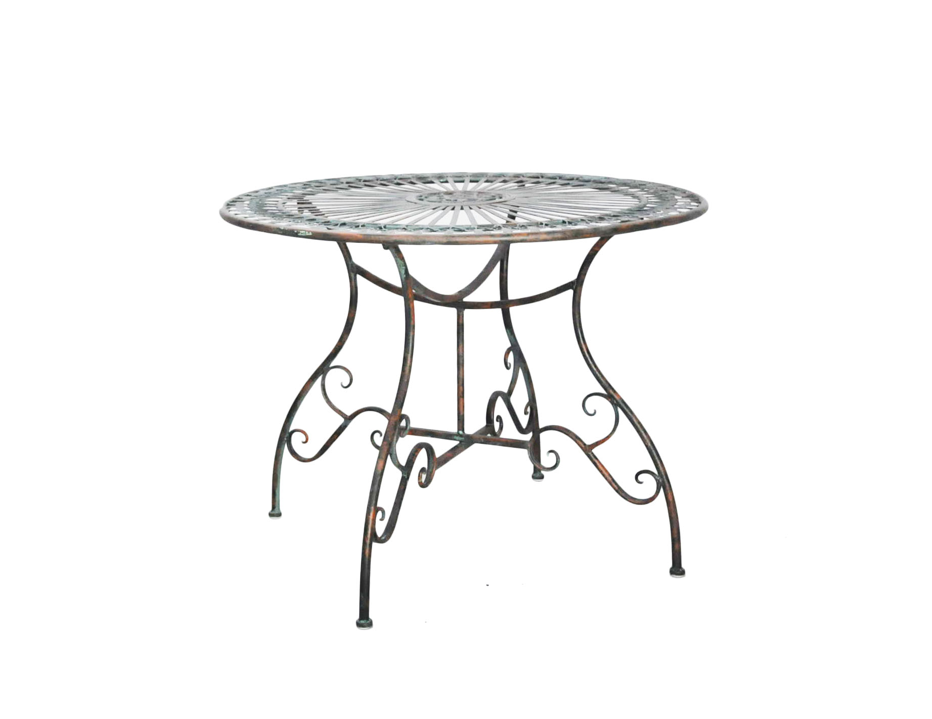 Table Ronde En Fer Forgé De Jardin | Fuse Table Ronde Manutti ...