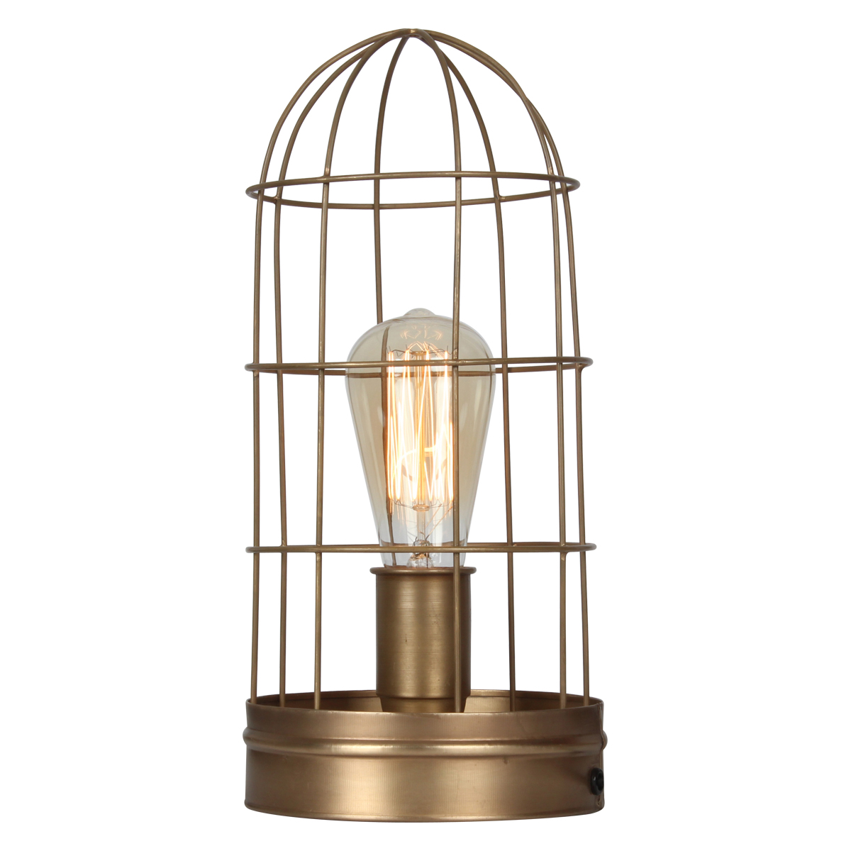 Grillage Industriel Lampe Grillagée Style Industrielle Couleur Bronze