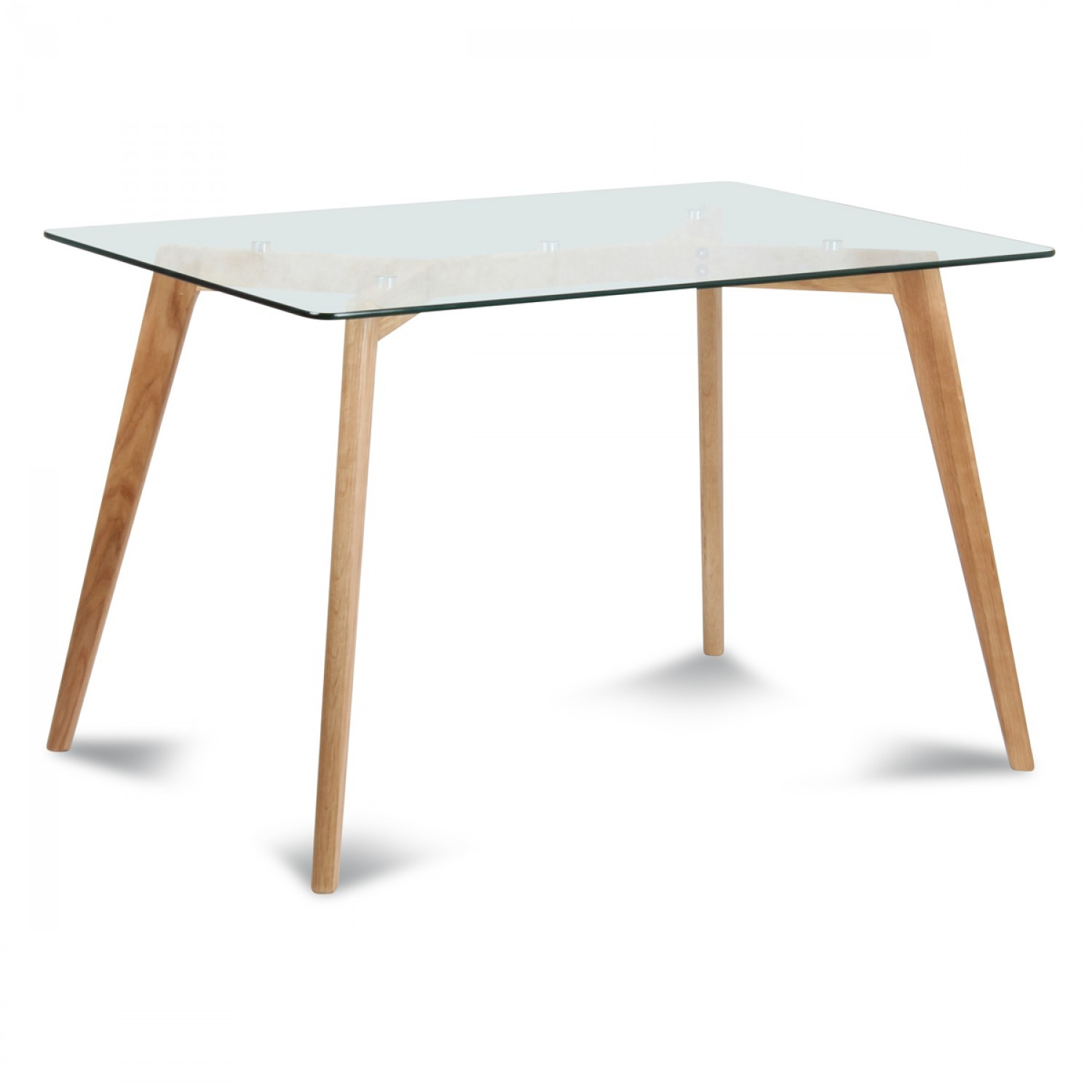 Table Plateau En Verre Table Rectangulaire Plateau De Verre Style Scandinave