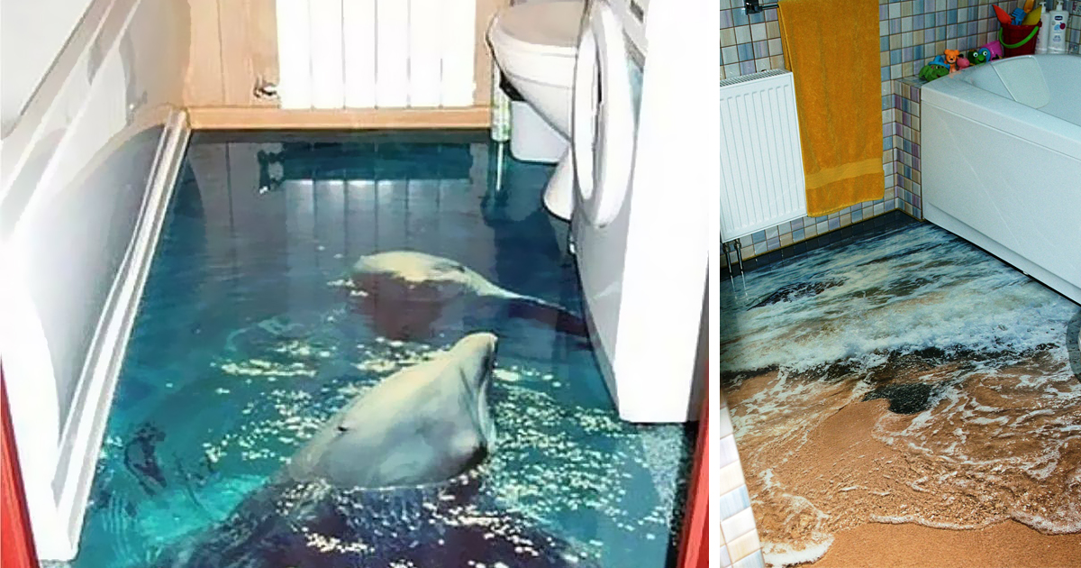 Fluessiger Bodenbelag Wohnzimmer | 3d Floors Turn Your Bathroom Into ...