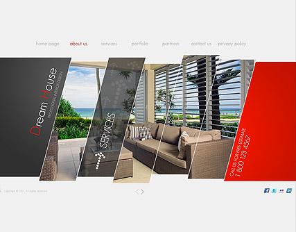 bedbedbed interior design websites - interior design web template