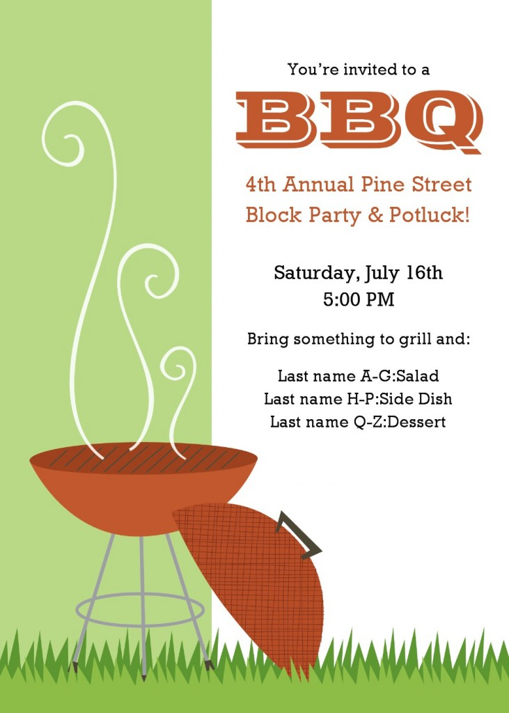 bbq flyer template free - bbq benefit flyers