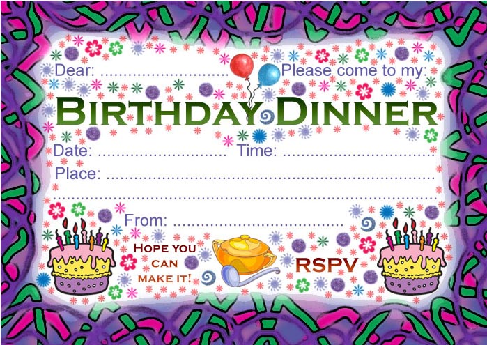 50 Free Birthday Invitation Templates - You Will Love These - Demplates
