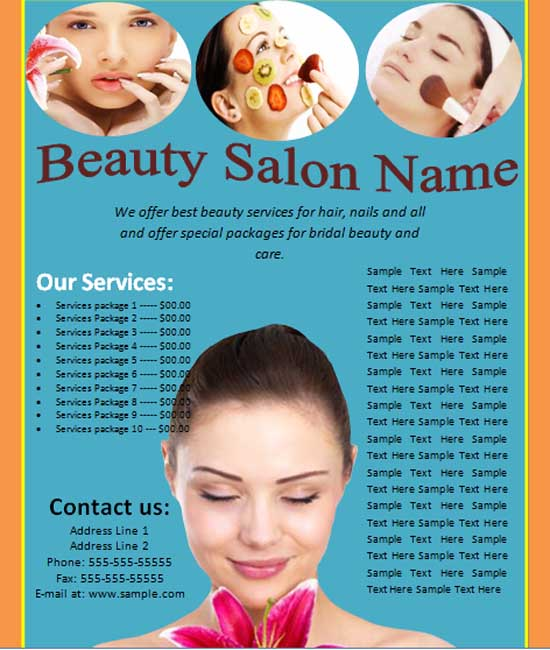 business flyer in word