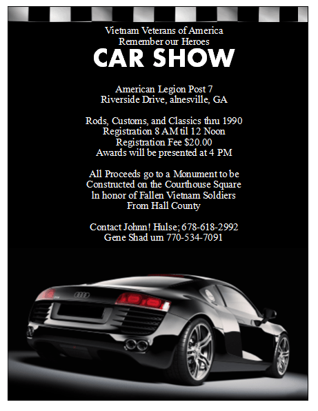15 Car Show Flyers High On Adrenaline Demplates