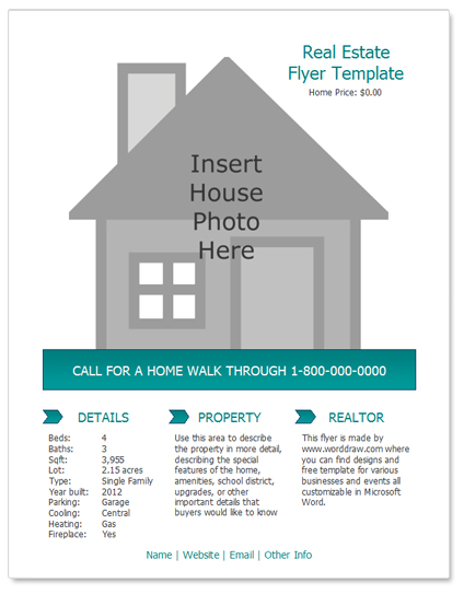 house for rent template – Home for Sale Template