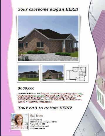 stunning real estate flyer templates  demplates  real estate flyer7
