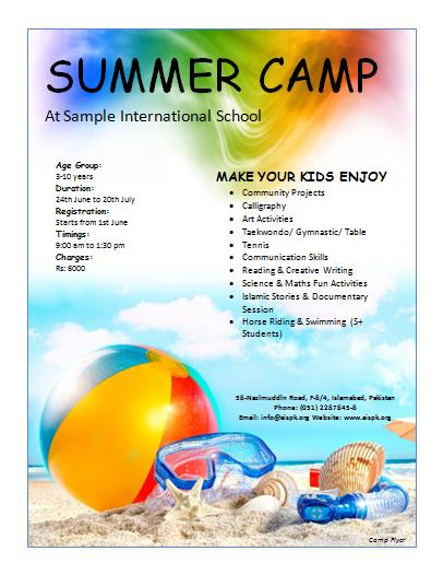 12 free summer camp flyer templates demplates