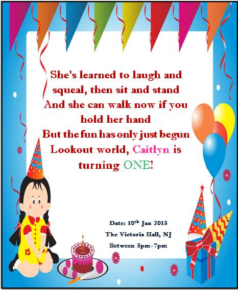 free printable 1st Birthday invitations for throwing a big birthday - invitation card for ist birthday
