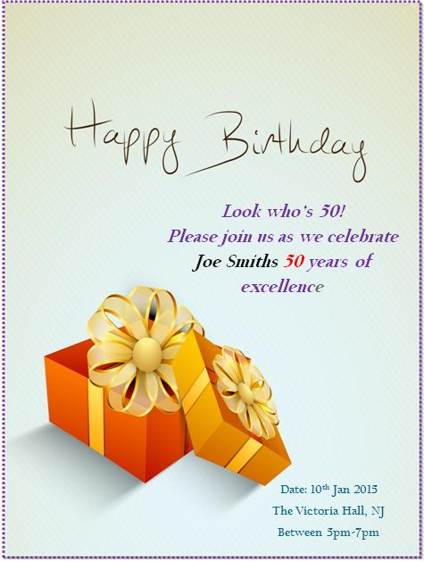 50th birthday invitation templates 10