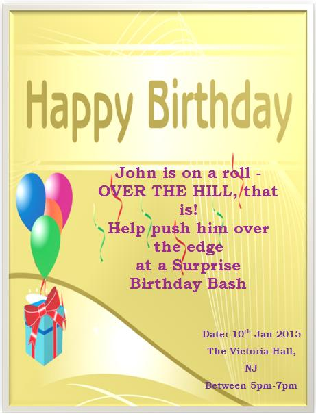 50th birthday invitation templates 8