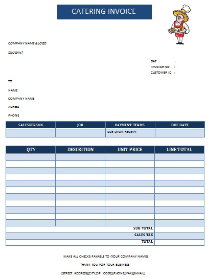 28 Catering Invoice Templates Free Download - Demplates - sample catering invoice