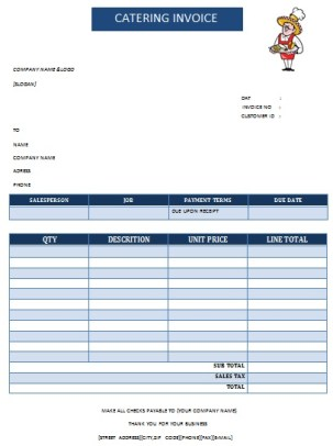 CATERING INVOICE 16