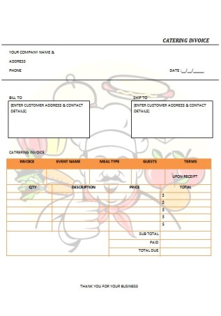 CATERING INVOICE 4