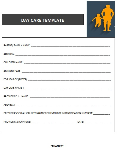 27 Day Care Invoice Template Collection - Demplates - collection receipt template