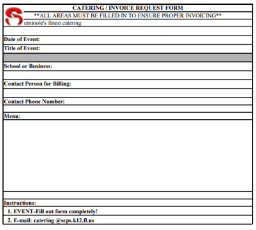 catering invoice template 8