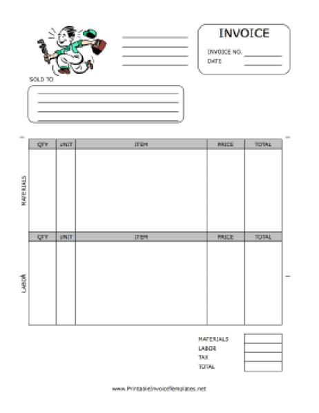 free plumbin invoice template 3