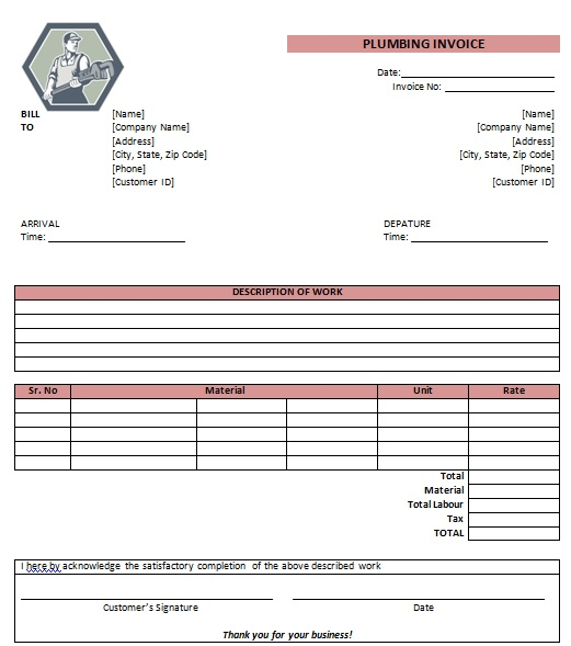 bill for work done template - Canreklonec