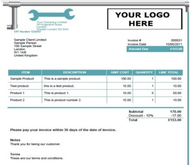14 Free Plumbing Invoice Templates - Demplates - how to type up an invoice