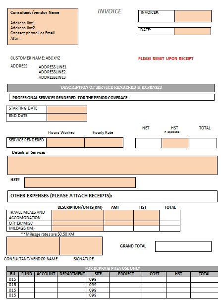 invoice services template - Jolivibramusic - invoice for cleaning services
