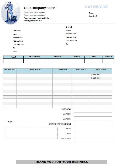Top 21 Free Cleaning Service Invoice Templates - Demplates