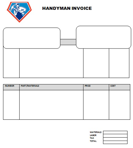 14 Practiced Handyman Invoice Templates - Demplates - generic invoices printable