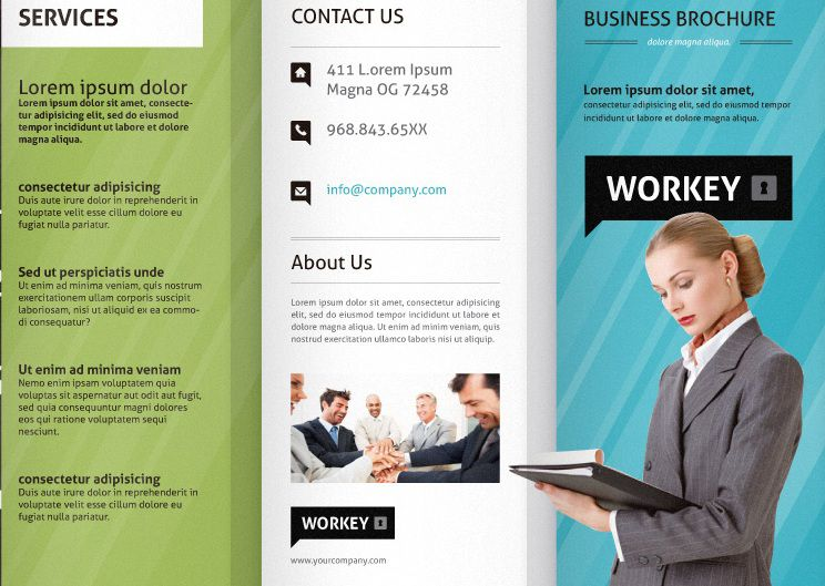 40 Professional Free Tri fold Brochure Templates - Word, PSD - free business flyer templates for word