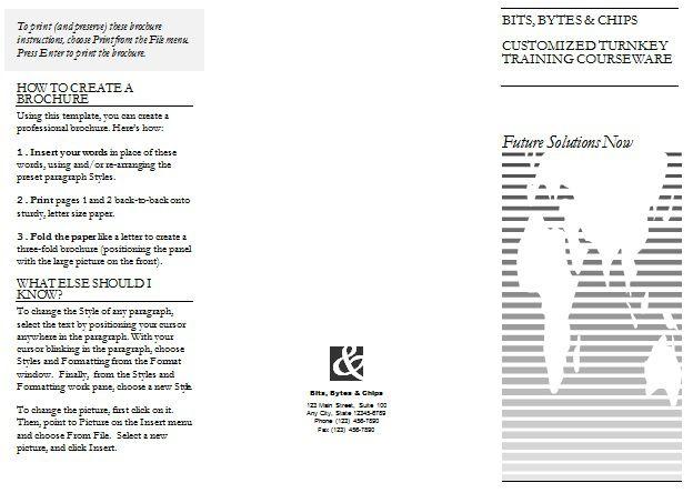 3 fold template - Apmayssconstruction