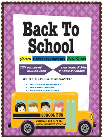 16 Impressive Back to School Flyers in PSD, Word  PPT templates