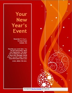 New Year Event Invitation Template - Red Theme