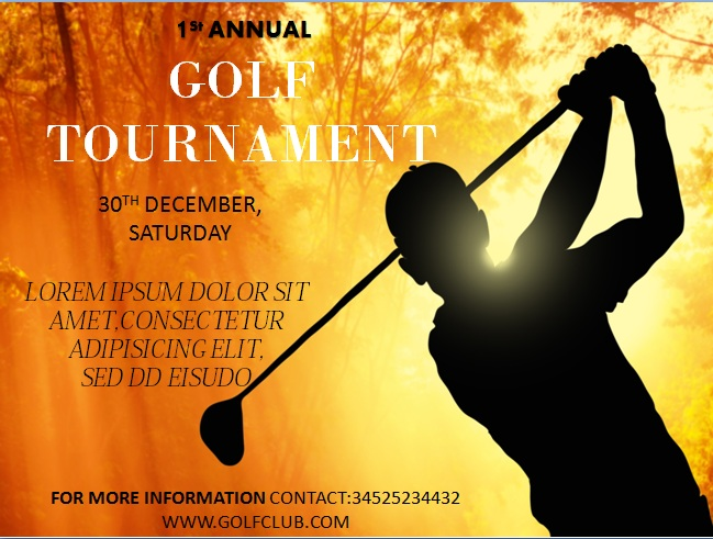 15 Free Golf Tournament Flyer Templates  Fundraiser  Charity