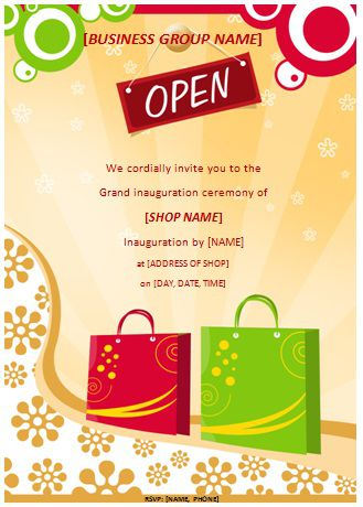 20 Grand Opening Flyer Templates Free - Demplates - invitation flyer sample