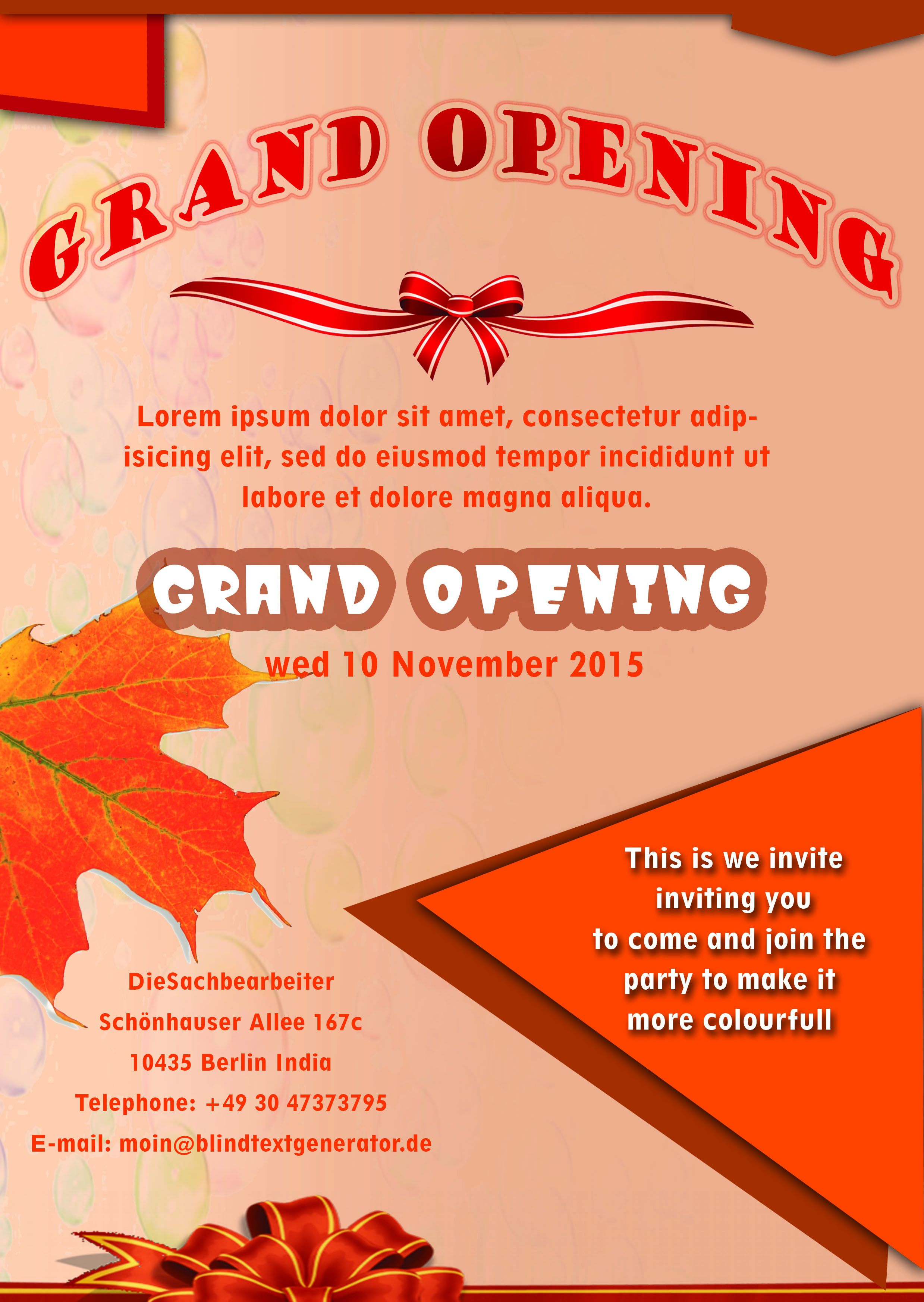 20 Grand Opening Flyer Templates Free Demplates