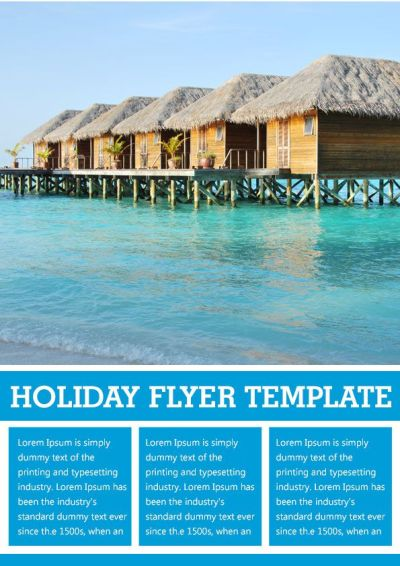 Holiday rental flyer template