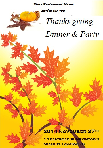 23 Free Thanksgiving Flyers  PSD, WORD Templates - Demplates