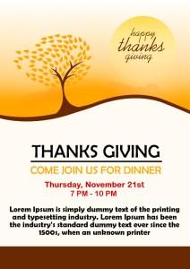 Free Thanksgiving Potluck Flyer Template
