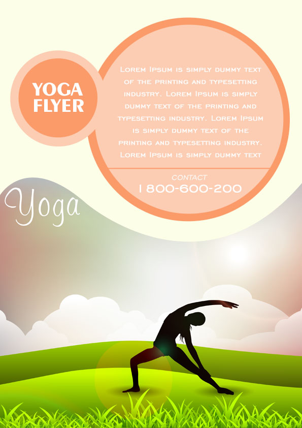 free yoga flyer template - Alannoscrapleftbehind - free landscape flyer templates