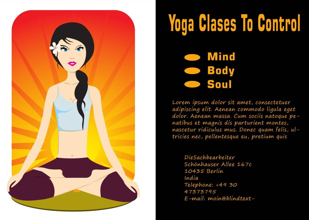 Yoga Flyer Template Spotgymyoga